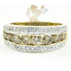 Ladies 14k Yellow Gold Round Diamond Fashion Ring 1.07ct