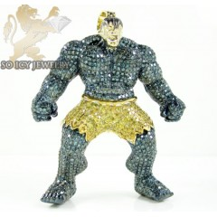 Hulk 10k Yellow Gold Diamond Pendant 4.00ct