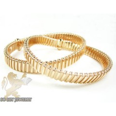 Ladies .925 Rose Silver Snake Bangle Bracelet