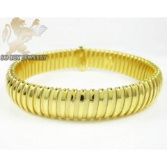 Ladies .925 Yellow Silver Snake Bangle Bracelet