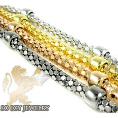 Ladies .925 Silver Fancy Snake Bracelet