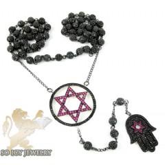 Black Silver Cz Jewish Ro...
