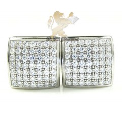 .925 white sterling silver cz earrings 0.70ct