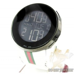 Mens white igucci digital watch
