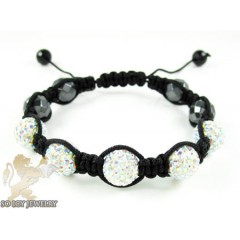 Multi Color Rhinestone Macramé Faceted Bead Rope Bracelet 5.00ct