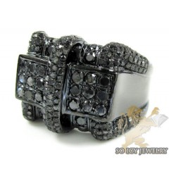Black Sterling Silver Dia...