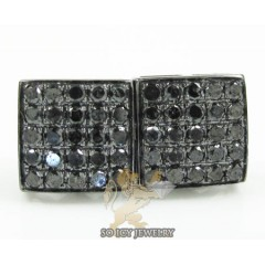 10k Black Gold Black Diamond Earrings 0.70ct