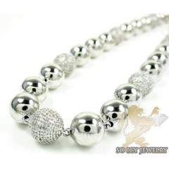 White Sterling Silver Rou...