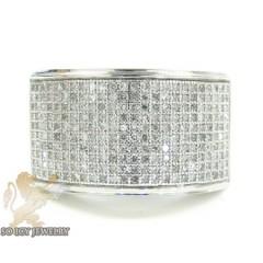 White sterling silver diamond fashion ring 1.00ct