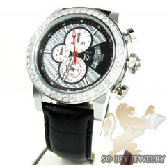 Techno Com Kc Diamond Carbon Fiber Watch 3.60ct