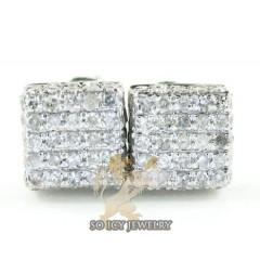 10k White Gold Diamond 3d Ice Cube Earrings 0.50ct