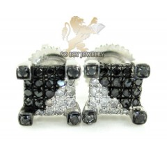 .925 White Sterling Silver Diamond Earrings 0.50ct