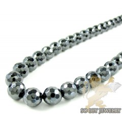 Gun Metal Black Onyx Faceted Bead Chain
