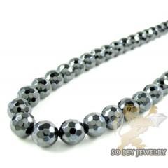 Gun Metal Black Onyx Faceted Bead Chain