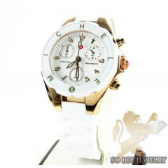 Tahitian Jelly Bean Large Stainless Steel White Rose Gold Tone