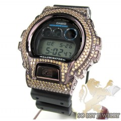 Mens Champagne Cz Dw-6900 Brown G-shock Watch 5.00ct