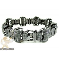 Black Sterling Silver Black Diamond Bracelet 2.00ct
