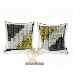 14k White Gold Color Diamond Earrings 1.25ct