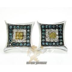 14k White Gold Color Diamond Earrings 0.50ct