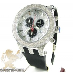 Mens Joe Rodeo White Stainless Steel Broadway Diamond Watch 5.00ct