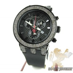 Mens Joe Rodeo Black Stainless Steel Broadway Diamond Watch 5.00ct