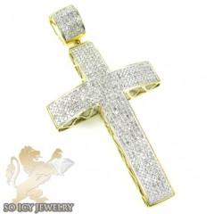 10k Yellow Gold Diamond Cross 2.00ct
