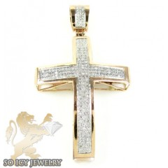 10k Rose Gold Diamond Cross 0.62ct