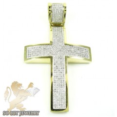 10k Yellow Gold Diamond Cross 0.90ct