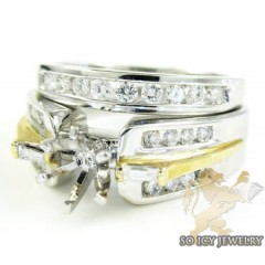 14k White & Yellow Gold D...