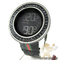 Mens Full Diamond Case & Bezel Igucci Digital Watch 14.00ct