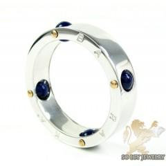 Mens baraka 18k white gold & blue onyx ring