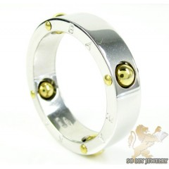 Mens Baraka 18k White & Yellow Gold Ring