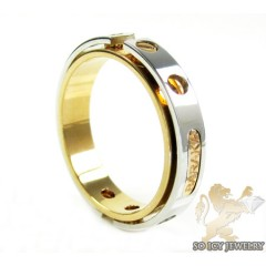 Mens Baraka 18k White & Rose Gold Ring