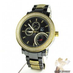 White Diamond Techno Com By Kc Black Ceramic Watch 3.00ct