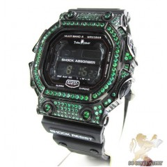 Techno Master Green Cz Shock Absorber Watch 3.00ct