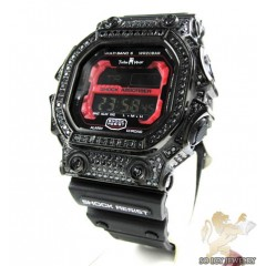 Techno Master Black Cz Shock Absorber Watch 3.00ct