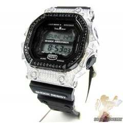 Techno Master White & Black Cz Shock Absorber Watch 3.00ct