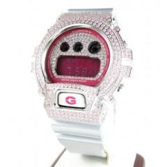 Mens Pink Cz Dw-6900 Whit...