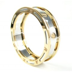 Mens Baraka 18k White & Rose Gold Wedding Band Screw Ring
