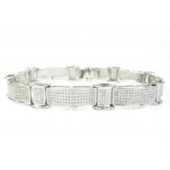 925 Sterling Silver Diamond Bracelet 3.15ct