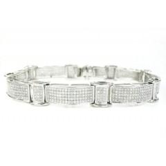 925 Sterling Silver Diamond Bracelet 3.15ct