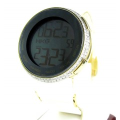 Mens Diamond Yellow Igucci Digital Watch 2.00ct