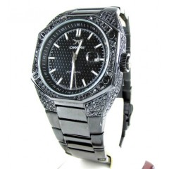 Mens Full Black Diamond C...