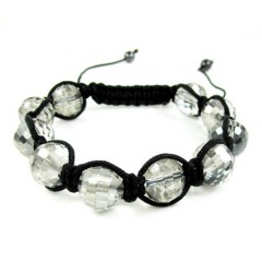 Transparent Onyx Macramé Faceted Bead Rope Bracelet