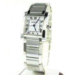 Ladies 14k White Gold Geneve Automatic Watch