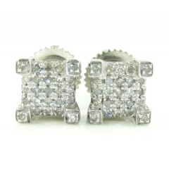 925 White Sterling Silver Diamond Earrings 0.65ct