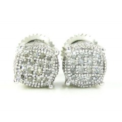 925 White Sterling Silver White Diamond Earrings 0.25ct