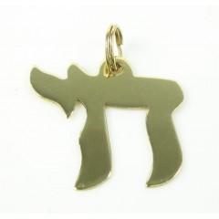 14k Yellow Gold Jewish Ch...