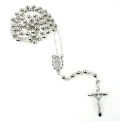 10k White Gold Rosary Smo...
