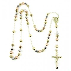 10k Tri Color Gold Rosary...